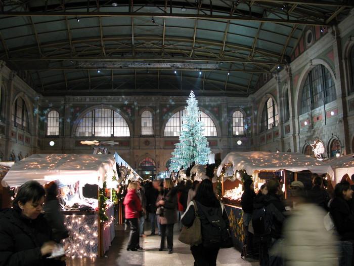 Weihnachtsmarkt, Bahnhof Zuerich